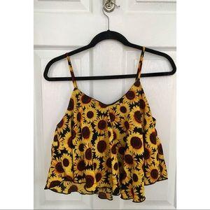 🌻 Charlotte Russe Sunflower Tank-Size Medium 🌻